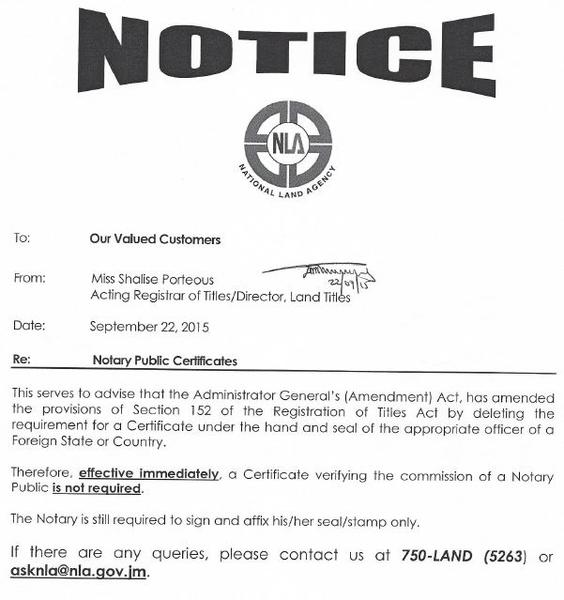 NP%20Notice - How To Get A Copy Of Land Title In Jamaica